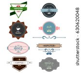 vector set of vintage retro | Shutterstock .eps vector #630620048