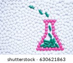 laboratory flask contained... | Shutterstock . vector #630621863