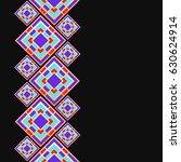 mosaic frame. seamless border...   Shutterstock .eps vector #630624914