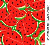 watermelon pattern seamless... | Shutterstock .eps vector #630629084