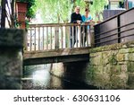 senior couple walking through... | Shutterstock . vector #630631106