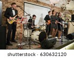 music band of six young people  ... | Shutterstock . vector #630632120