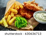 british traditional fish and... | Shutterstock . vector #630636713