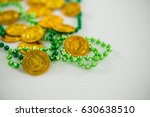st patricks day shamrocks and... | Shutterstock . vector #630638510