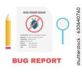 bug report in qa testing.... | Shutterstock .eps vector #630640760