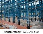 metal framework building under... | Shutterstock . vector #630641510