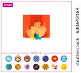 clapping audience icon | Shutterstock .eps vector #630643184