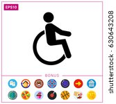 disabled person icon | Shutterstock .eps vector #630643208