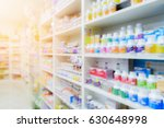 pharmacy interior with blurred... | Shutterstock . vector #630648998