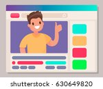 personal channel on the... | Shutterstock .eps vector #630649820