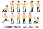 set of a guy in casual clothes... | Shutterstock .eps vector #630650246