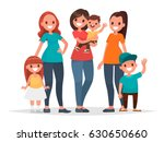 group of mothers with their... | Shutterstock .eps vector #630650660