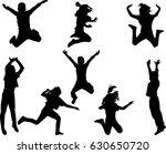 happy children jumping   vector | Shutterstock .eps vector #630650720
