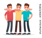best friends. men embracing... | Shutterstock .eps vector #630652856
