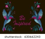 beautiful flowers and birds.... | Shutterstock .eps vector #630662243