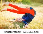 back to childhood   happy woman ... | Shutterstock . vector #630668528