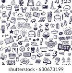 school theme seamless pattern | Shutterstock .eps vector #630673199
