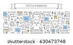 vector line web concept for... | Shutterstock .eps vector #630673748