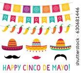 cinco de mayo vector sombrero... | Shutterstock .eps vector #630681446