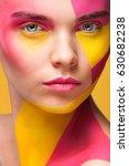 portrait of the bright...   Shutterstock . vector #630682238