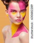 portrait of the bright... | Shutterstock . vector #630682289