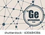 germanium chemical element.... | Shutterstock .eps vector #630684386