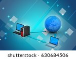 3d illustration of wireless...   Shutterstock . vector #630684506