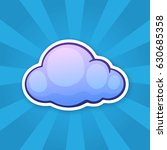vector illustration. blue cloud.... | Shutterstock .eps vector #630685358