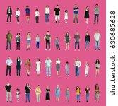diversity people set gesture...   Shutterstock . vector #630685628