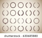 collection of twenty circular... | Shutterstock .eps vector #630685880