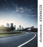 asphalt pavement urban road at... | Shutterstock . vector #630686228