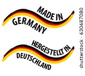 made in germany with german... | Shutterstock .eps vector #630687080