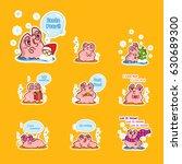 set of vector cartoon pearl... | Shutterstock .eps vector #630689300