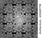 seamless vintage pattern on...   Shutterstock .eps vector #630689798