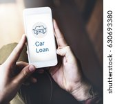 Small photo of Car Loan Icon on the Screen of mobile device