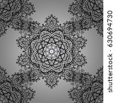 seamless damask pattern...   Shutterstock .eps vector #630694730
