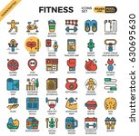 fitness and exercise concept... | Shutterstock .eps vector #630695630