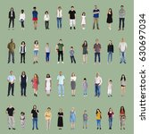 diversity people set gesture... | Shutterstock . vector #630697034