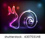 glowing neon sign snail vector   Shutterstock .eps vector #630703148