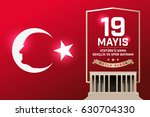 may 19th turkish commemoration... | Shutterstock .eps vector #630704330