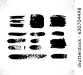 black grunge banners.vector... | Shutterstock .eps vector #630704498