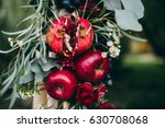wedding autumn decor with... | Shutterstock . vector #630708068