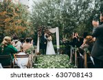 beautiful wedding couple on the ... | Shutterstock . vector #630708143