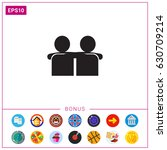 embracing friends icon | Shutterstock .eps vector #630709214