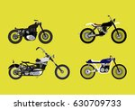 motorcycle types objects icons... | Shutterstock .eps vector #630709733