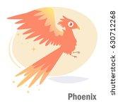 phoenix. isolated art on white... | Shutterstock .eps vector #630712268