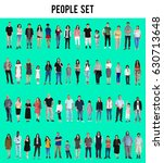 diversity people set gesture... | Shutterstock . vector #630713648