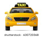 yellow taxi car isolated on... | Shutterstock .eps vector #630720368