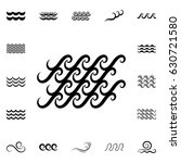 wave icons or water liquid... | Shutterstock .eps vector #630721580