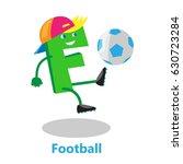 letter footballer | Shutterstock .eps vector #630723284